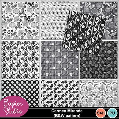 Carmenmiranda_bw_pattern