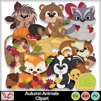 Autumn_animals_clipart_preview