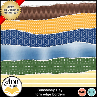 Adbdesigns_sunshiney_day_torn_edge_borders