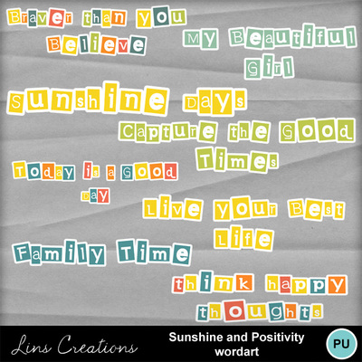 Sunshineandpositivitwordart