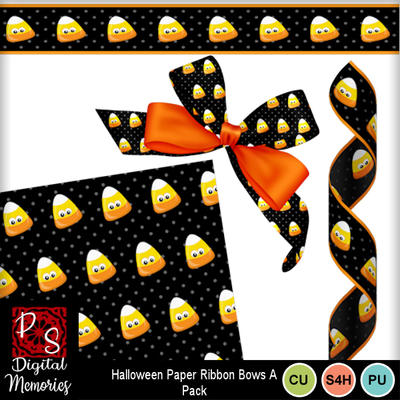 Candy_corn_paper_bow_ribbons