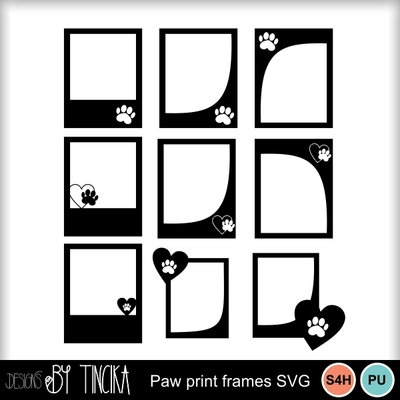 Paw_print_picture_frame_svg_-_mms