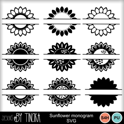 Sunflower_monogram_svg_-_mms