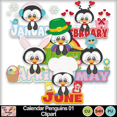 Calendar_penguins_01_clipart_preview