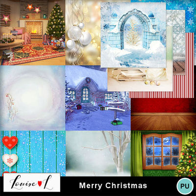 Louisel_merry_christmas_papiers1_preview