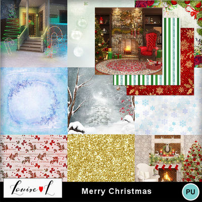 Louisel_merry_christmas_papiers2_preview