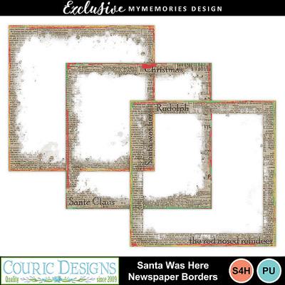 Santa_was_here_newspaper_borders