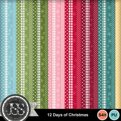 12_days_of_christmas_pattern_papers