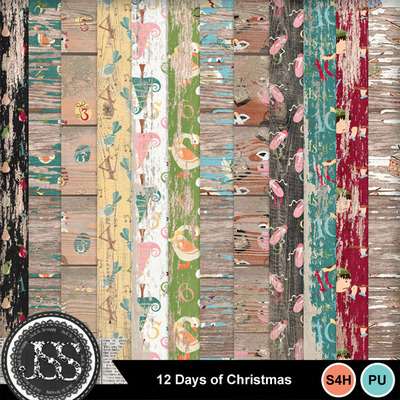 12_days_of_christmas_worn_wood_papers