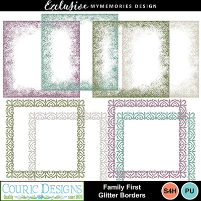 Family_first_glitter_borders