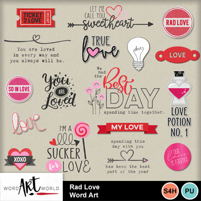 Rad_love_word_art