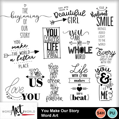 You_make_our_story_word_art