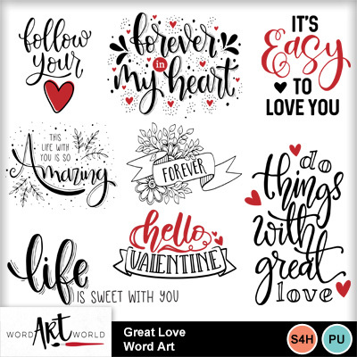 Great_love_word_art
