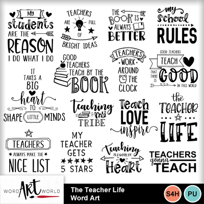 The_teacher_life_word_art