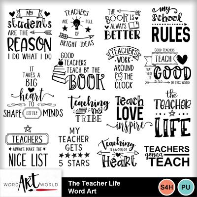 The_teacher_life_word_art