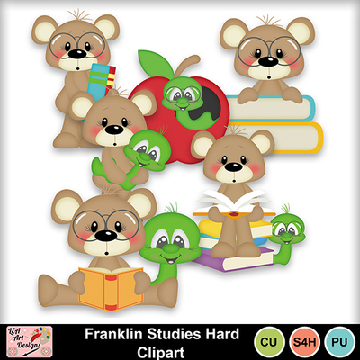 Franklin_studies_hard_clipart_preview