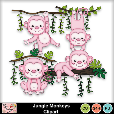 Jungle_monkeys_clipart_preview