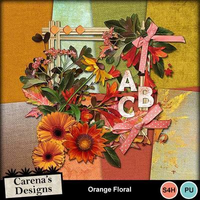 Orange-floral