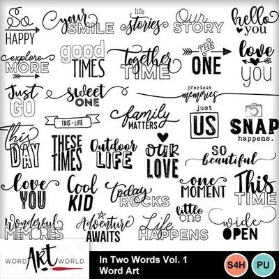 In_two_words_vol_1_word_art