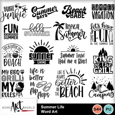 Summer_life_word_art