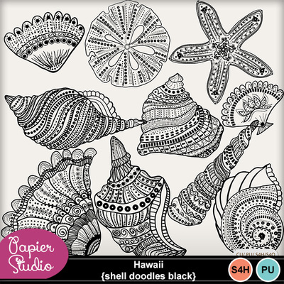 Hawaii_shell_doodles_black