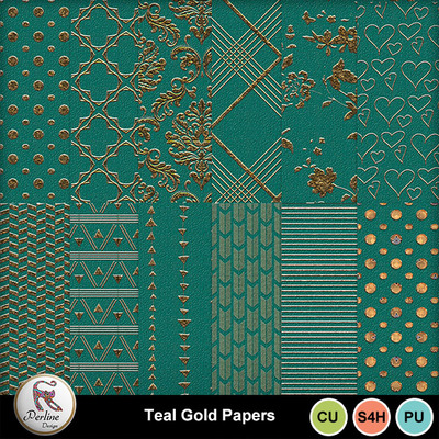 Pv_tealgoldpapers