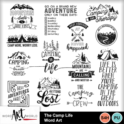 The_camp_life_word_art