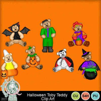 Halloweentobyteddyclipart-mm