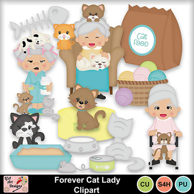 Forever_cat_lady_clipart_preview