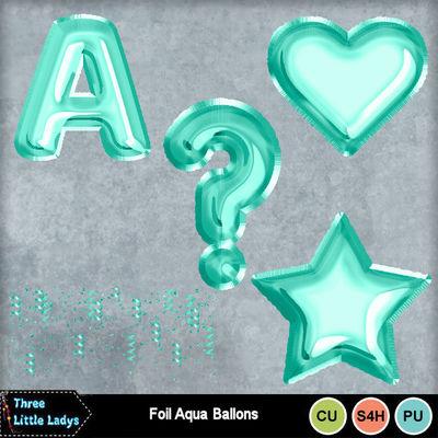 Foil_aqua_balloons-tll