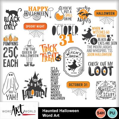 Haunted_halloween_word_art