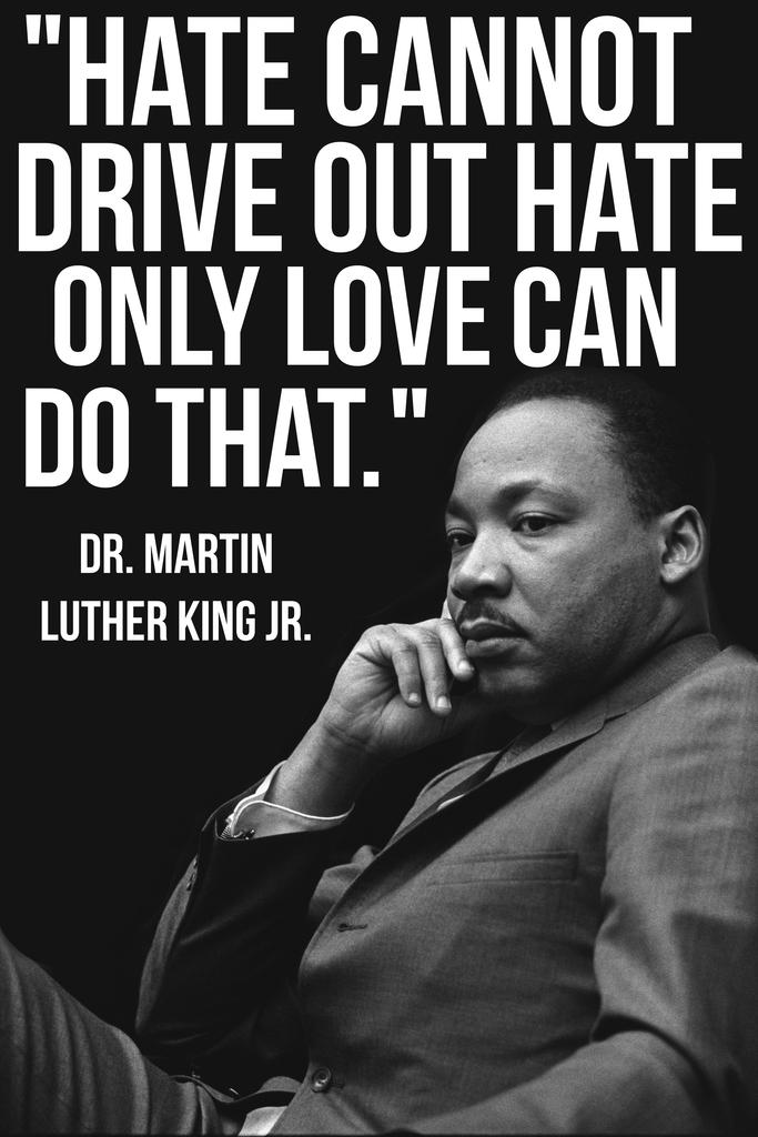 Martin Luther King Jr MLK Love Quote Mural Inch Poster ...