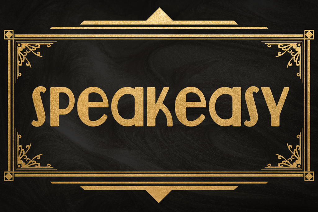 4837af3d Details about Speakeasy Sign Black Gold Art Deco Retro Poster 12x18 Inch