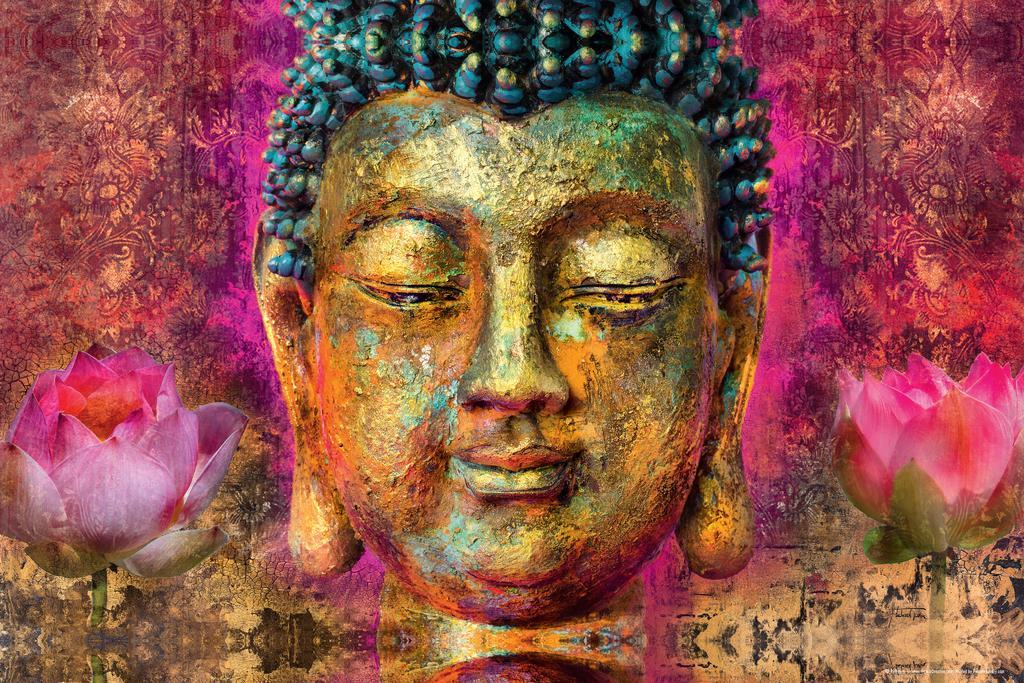 Guatama Buddha  Poster 24x36 inch rolled wall poster