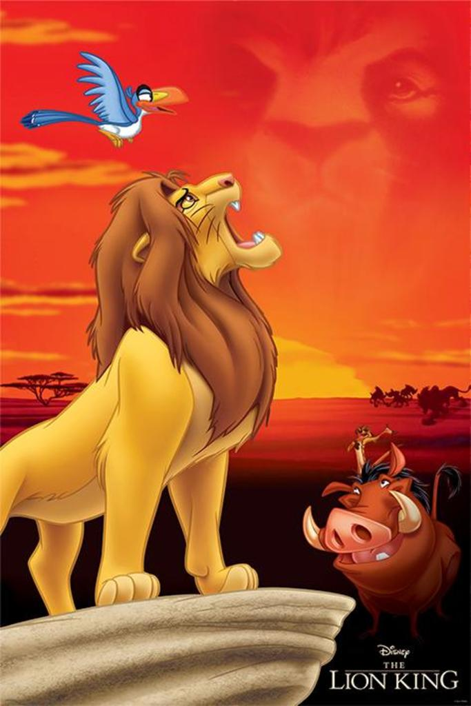 The-SIMBA-Action Movie Poster-Size 61x91,5 cm Lion King