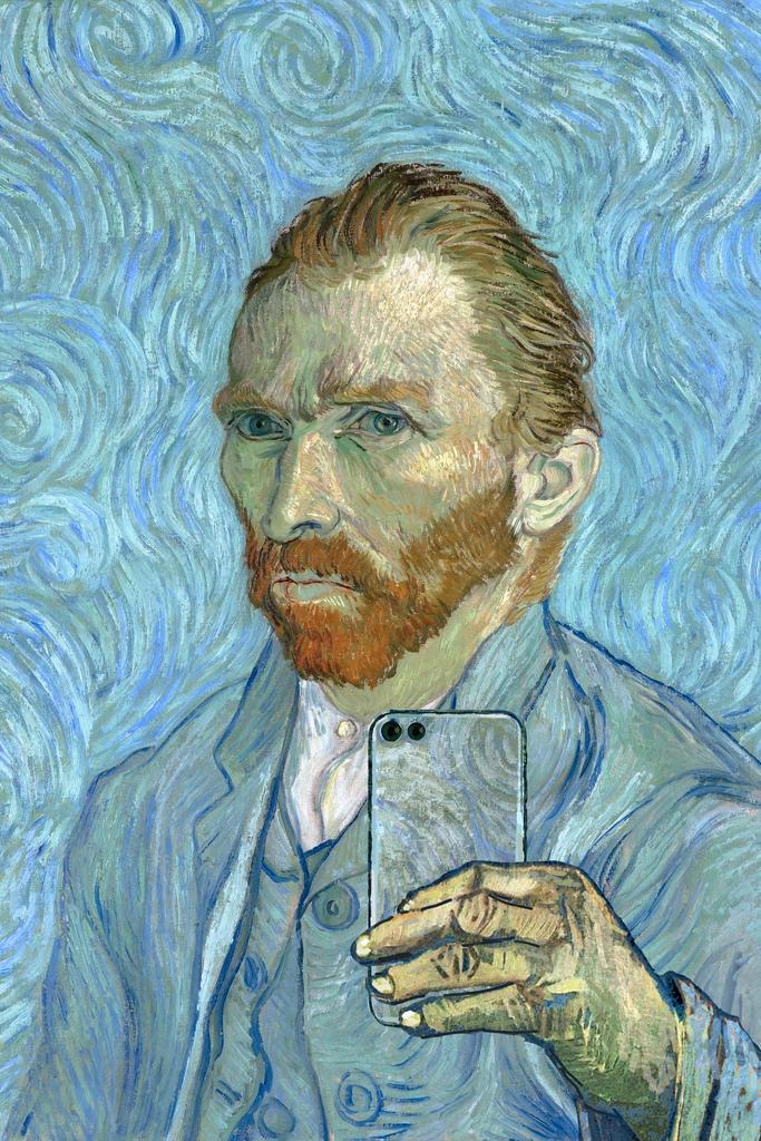 Vincent Van Gogh Portrait of Patience Escalier Vintage Print