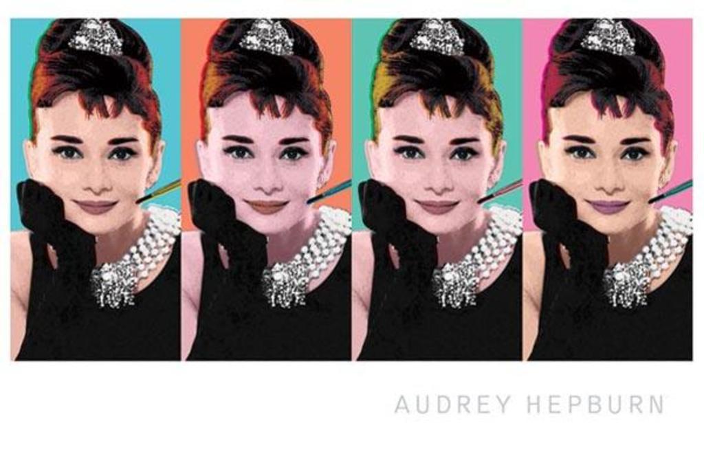 Arte Impressa Audrey Hepburn pôster cotação Hepburn Pôster Art Presente Para Ela