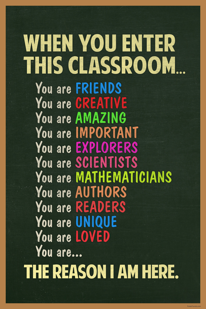 Reach For the Stars Classroom Poster 12x18