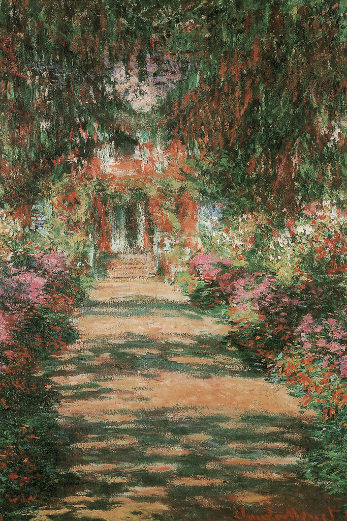 Claude Monet Garden Path At Giverny 1902 French Impressionist Poster ...