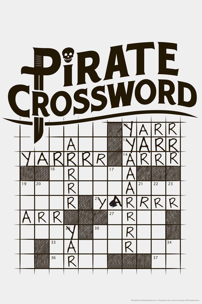 Pirates Novelty Humor Print Poster 24x36