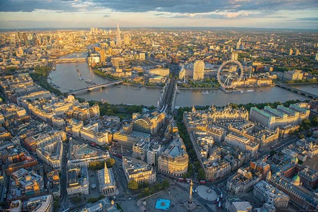Maxi Size 36 x 24 Inch London Evening Jason Hawkes Poster New