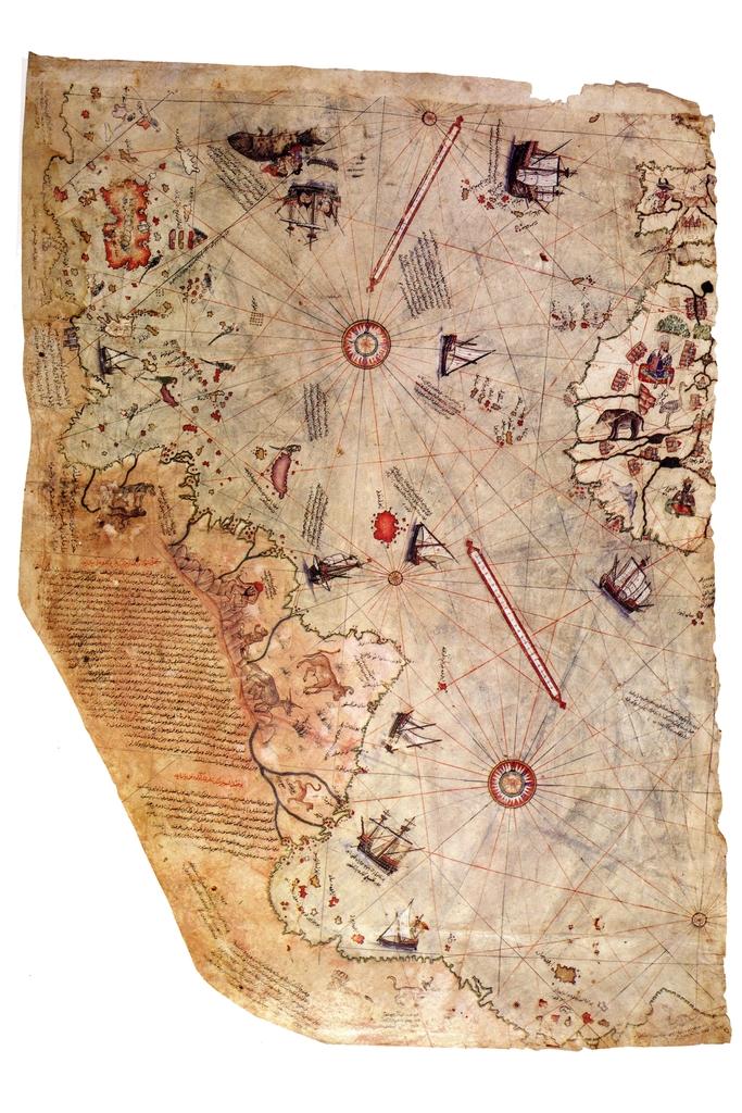 Piri Reis 1513 Historical Ottoman Empire World Map Poster 12x18