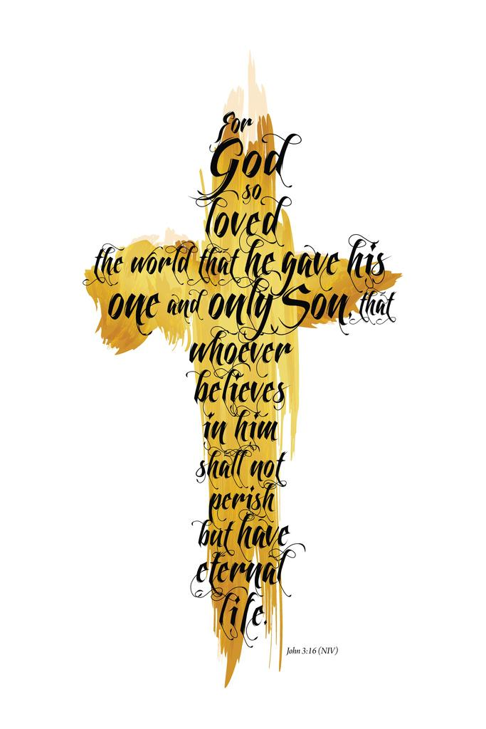 God is Love Poster 24x36 inch rolled wall poster