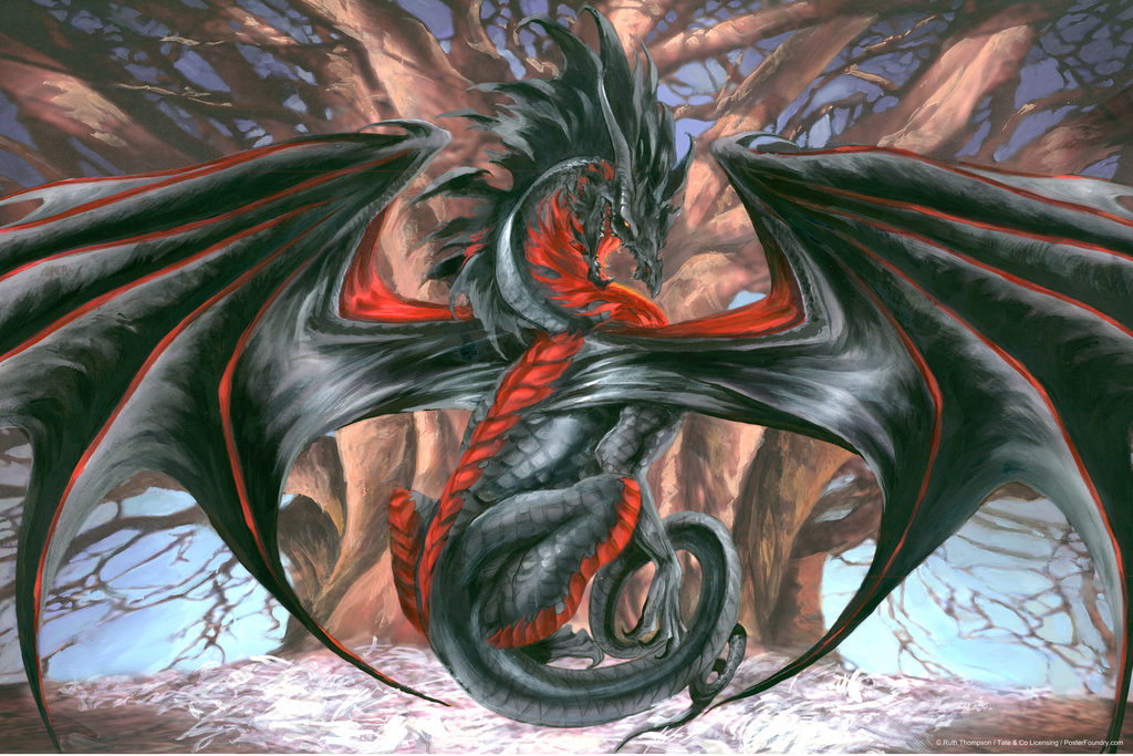 Malice Dragon Poster by Ruth Thompson 12x18 inch Poster 12x18