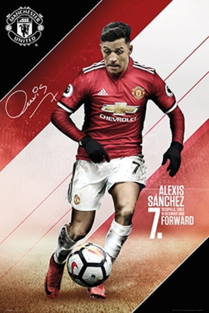Maxi Size 36 x 24 Inch Manchester United Alexis Sanchez 2018-2019 Poster New