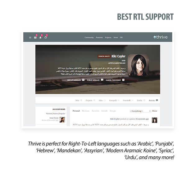 Thrive | Intranet & Community WordPress Theme | RTL Support