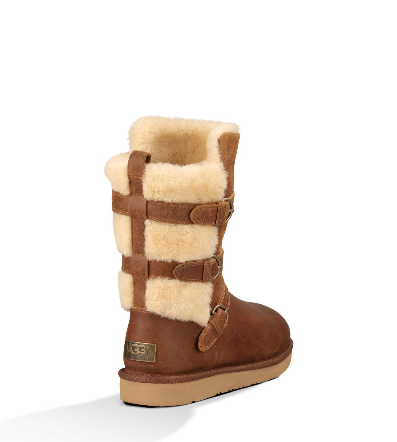 bc12ae13db3 Womens Ugg Australia Tan Becket Boots | Mindwise