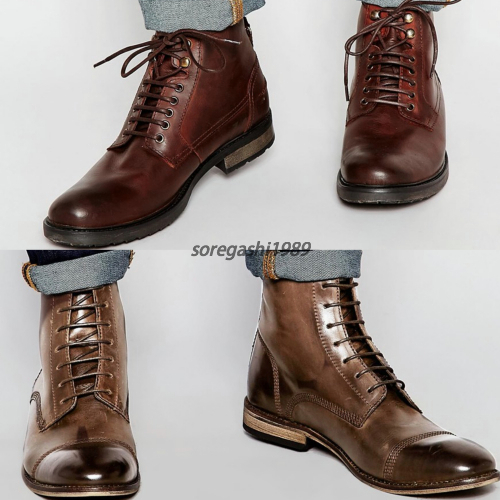 asos brown leather boots 2 types buyma
