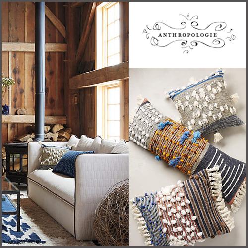 Throw Pillows Luxury : popular Anthropologie homespun Collaged pillow cushion - BUYMA