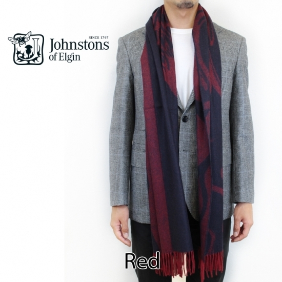 Johnstons of Elgin cashmere oversized red red WA000633